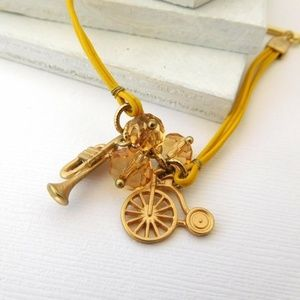 Jewelry - Yellow Gold Penny Farthing Bicycle Charm Bracelet